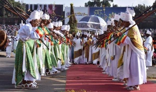 Orthodox Church Followers Celebrate Meskel