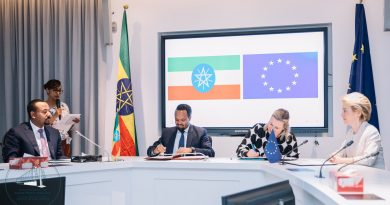 Ethiopia, EU Sign Financing Deals Worth $188mln
